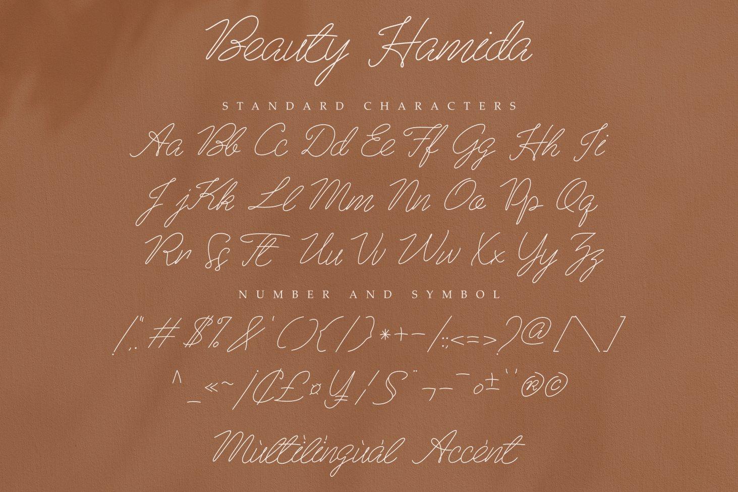 Beauty Hamida Font-3