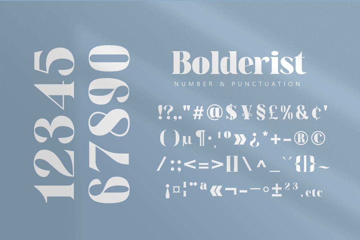 Bolderist Font-3