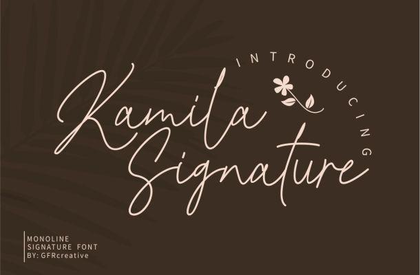 Kamila Signature Font