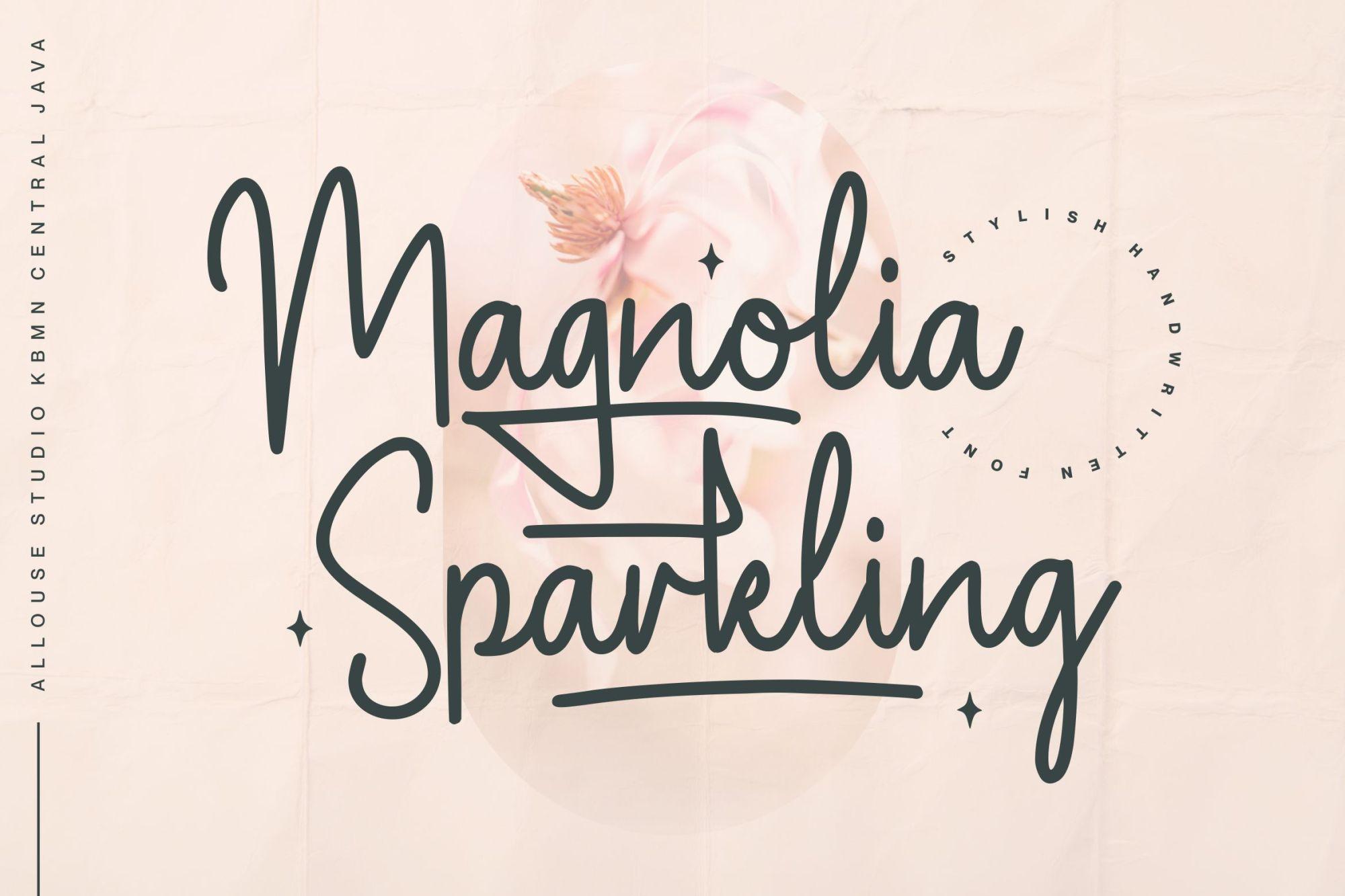Magnolia Sparkling Font