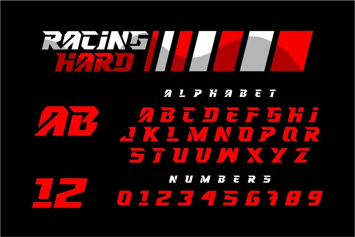 RACING HARD Font-2