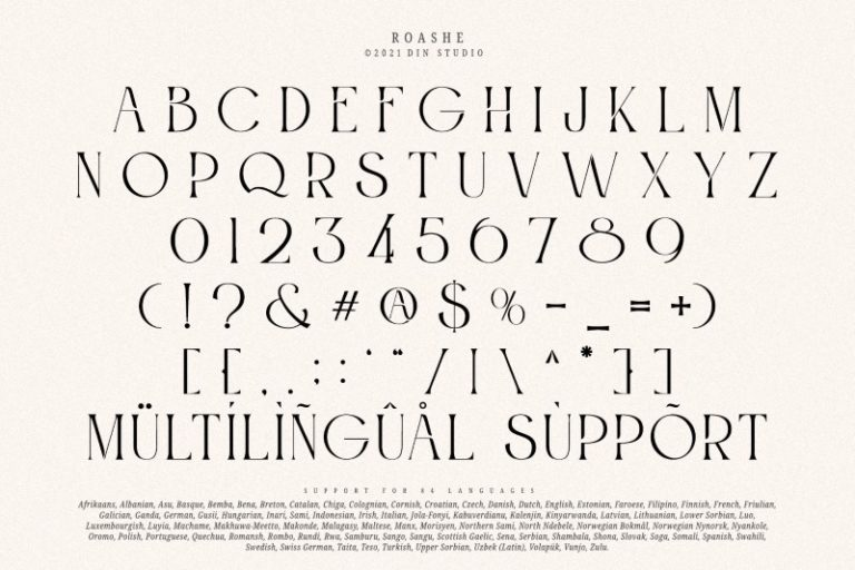 Roashe Font-3