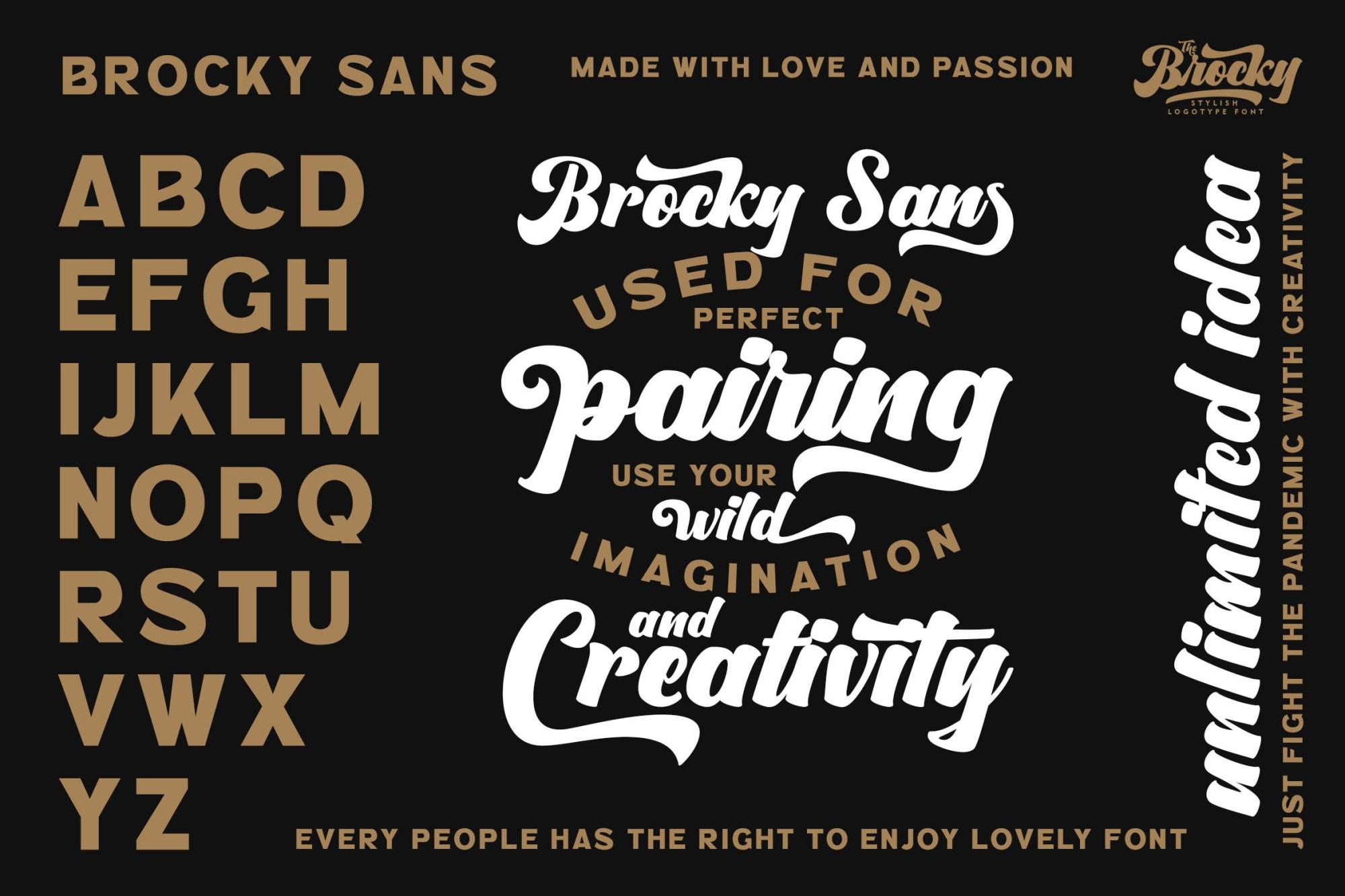 The Brocky Font-2