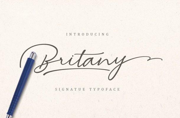 Britany Signature Font