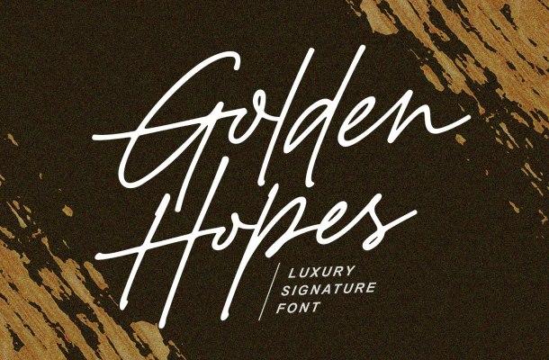 Golden Hopes Font