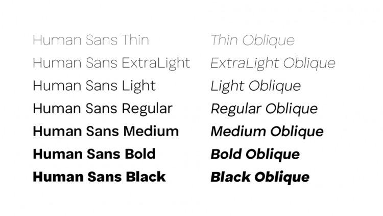 Human Sans Font Family-3