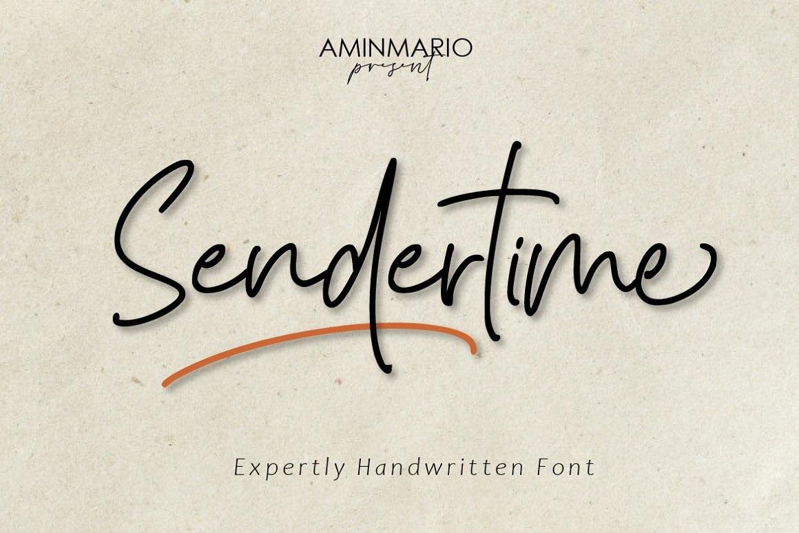 Sendertime Font