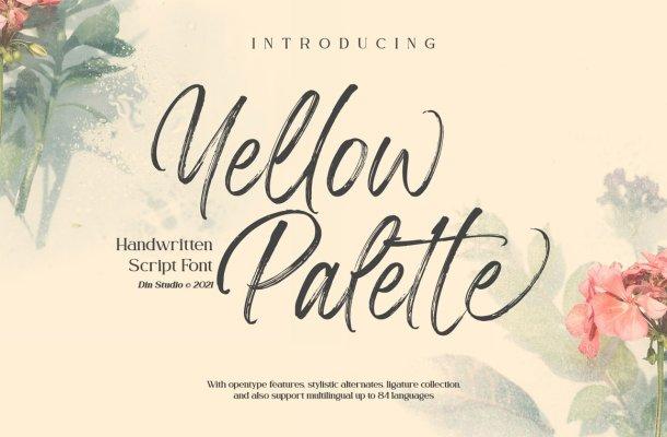 Yellow Palette Font