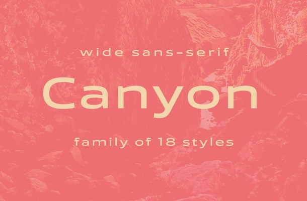 Canyon Font Family