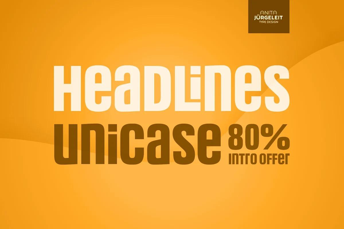 Headlines Unicase Font