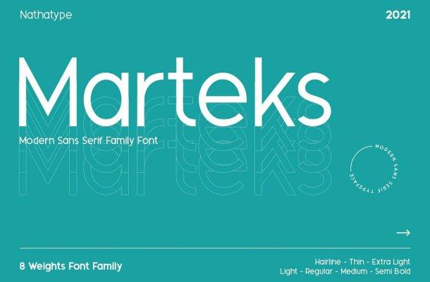 Marteks Font Family