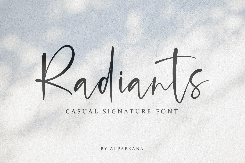 Radiants Font