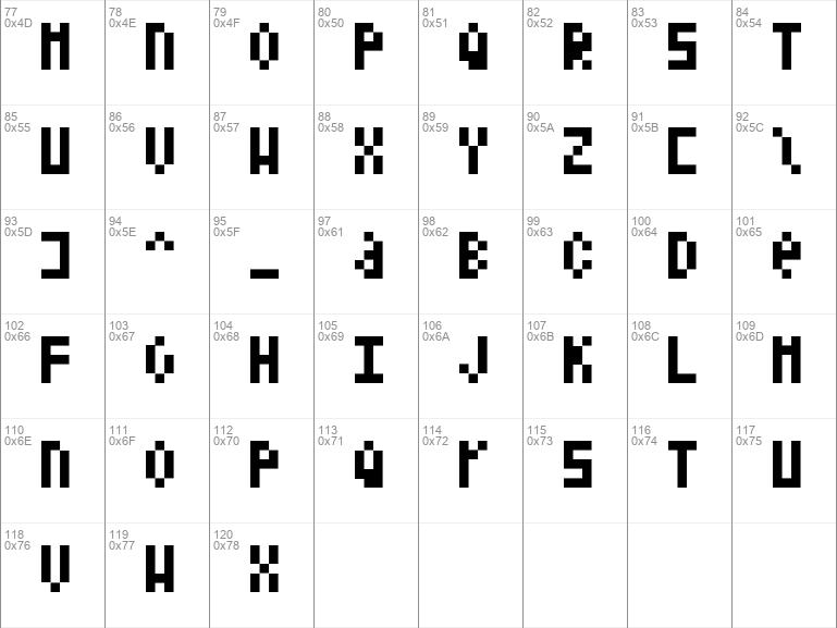Download free Shelter Code Regular font dafontfree.net