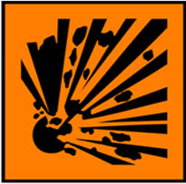 Simbol Bahan Kimia Berbahaya - mudah meledak