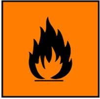 Simbol Bahan Kimia Berbahaya - mudah terbakar