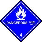 Simbol Bahan Kimia Berbahaya bahaya saat basah