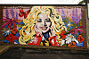 ICON: The country queen, pictured here on a mural in Nashville, has a strong place in popular culture. Photo: NTB