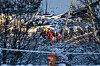 DEATH: Rescue crews carry one of the dead out of the landslide area.  Photo: Christian Roth Christensen / Dagbladet
