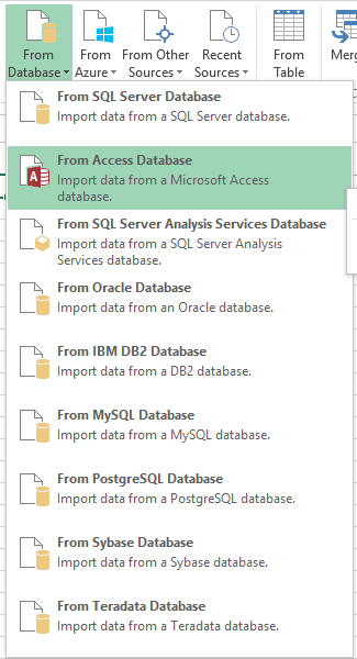 Merge data from multiple data sources with power query