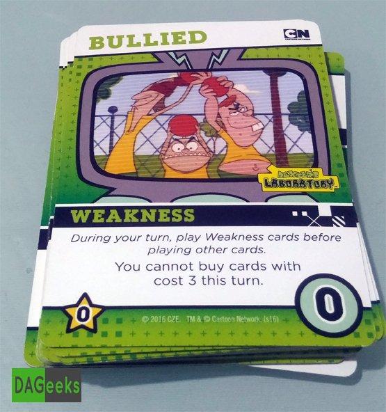 DAGeeks Reviews Cartoon Network Deck Building Game Weakness