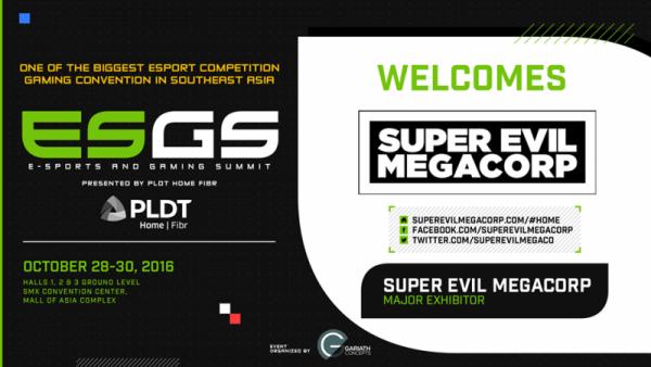 ESGS 2016 + Super Evil Megacorp Announcement Image DAGeeks