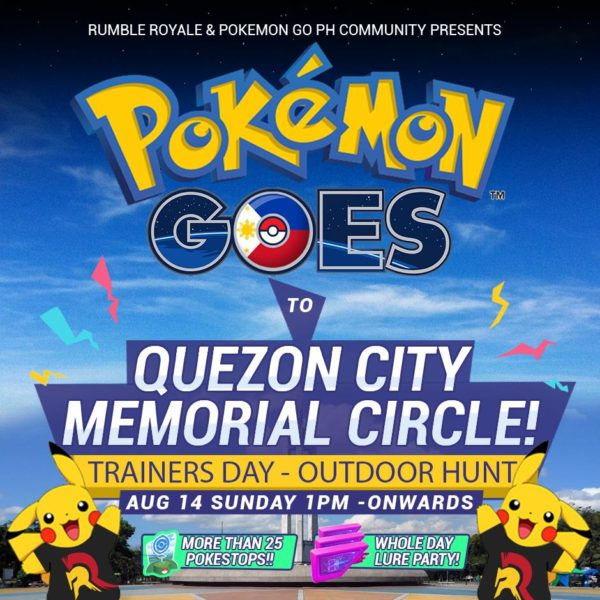 Rumble Royale Pokemon Go PH Community Poster Image Quezon City Memorial Circle DAGeeeks
