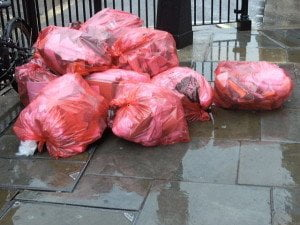 Commercial waste collection bags