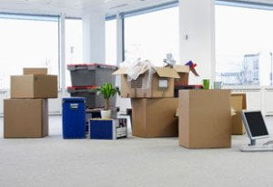 Dagenham Waste Removal - office with packing cases