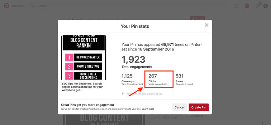 SEO tips for beginners high ranking Pinterest post
