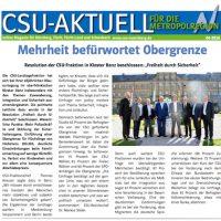 CSU-AKTUELL online Magazin für Nürnberg, Fürth, Fürth-Land und Schwabach #09-2016