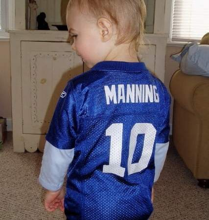 I Just Hope He Got Daddy's Sports Genes…