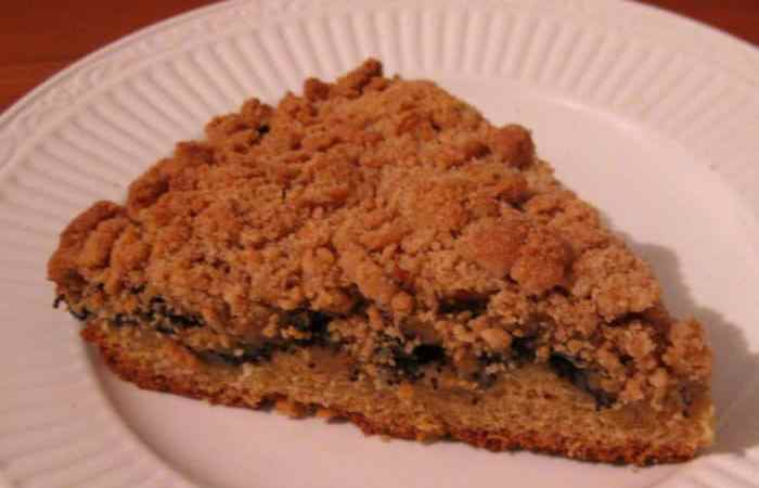 Recipe: German Streusel Poppy Seed Cake — Mohnkuchen