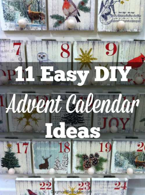 DIY advent calendar ideas, DagmarBleasdale.com