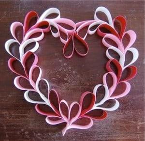DagmarBleasdale.com: paper hearts wreath