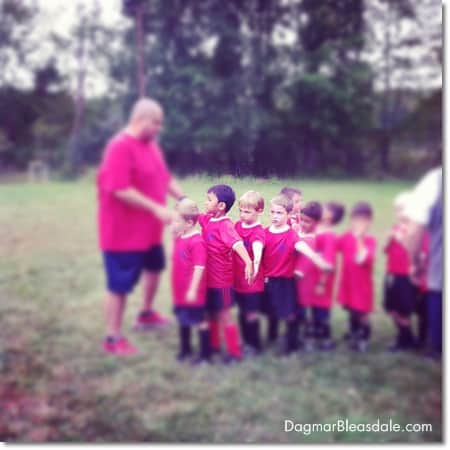 Wordless Wednesday — My Pumpkin Playing Soccer