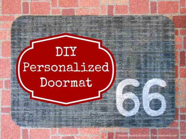DIY personalized doormat, DagmarBleasdale.com