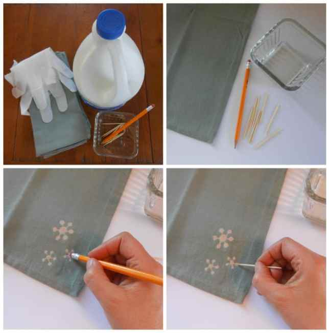 DIY bleach art coll