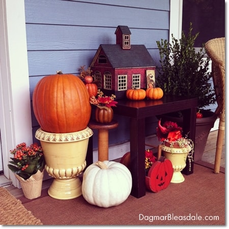 DIY Fall Decor for the Blue Cottage Porch