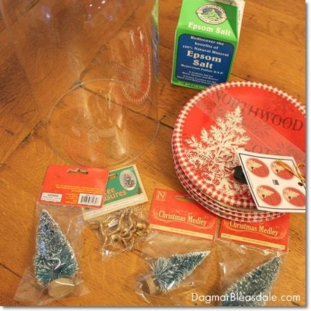 DIY Snow Globe With Bottle Brush Trees and Epsom Salt
