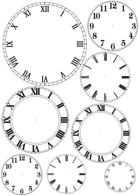 Minutes Face Printable Clock