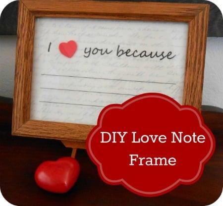 DIY Valentine's Day gift: I Love You frame
