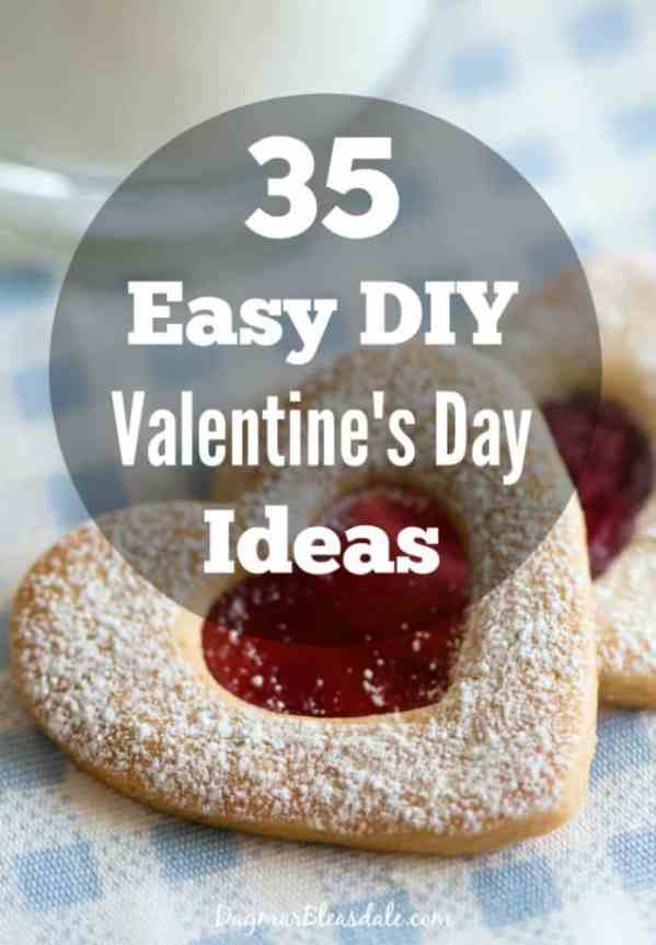 35 DIY Valentine's Day ideas, crafts and recipes and DIY ideas, DagmarBleasdale.com