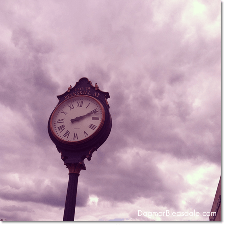 big clock at Peekskill's waterfront, NY