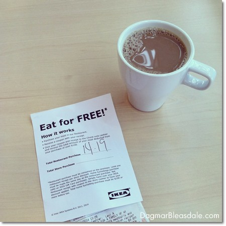 eat for free at Ikea