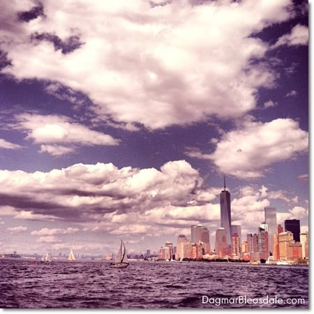 Manhattan with the Freedom Tower and the water