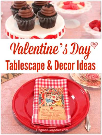 Valentine's Day Tablescape and Decor Ideas