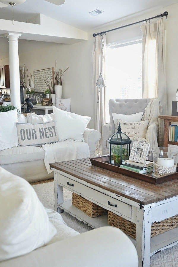 küçük oturma odası tasarım fikirleri sehpa