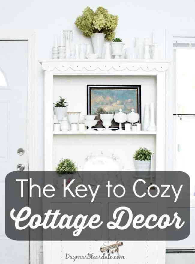 key to cozy cottage style decorating, DagmarBleasdale.com