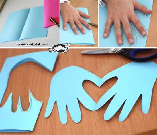 Valentine's Day handprint craft