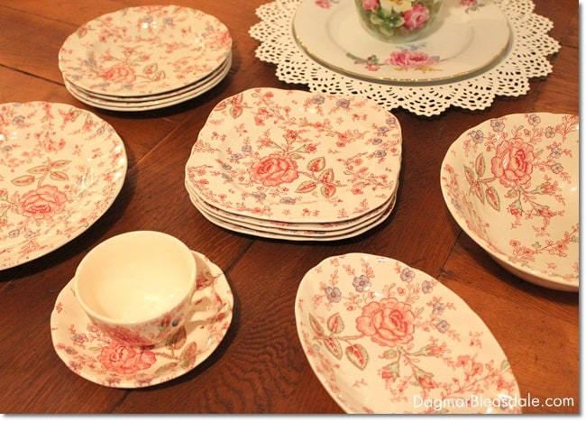 JohnsonBros Rose Chintz china. DagmarBleasdale.com